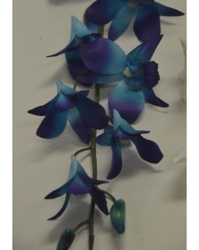 Silk Singapore Orchid Blue Artificial Trees Plants Artificial