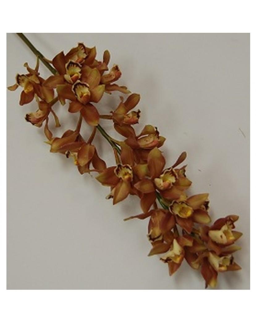 Brown Plastic Cymbidium Orchid Stem Artificial Trees Plants