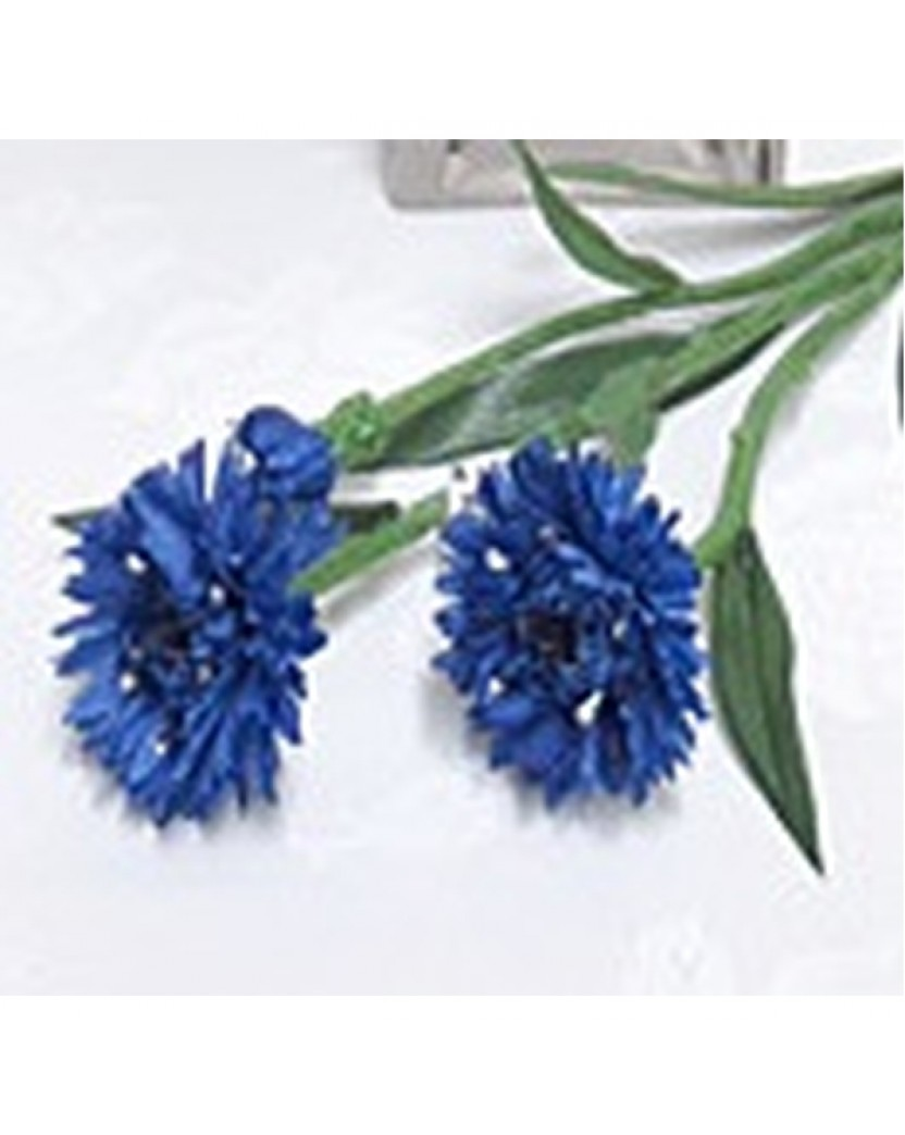 Silk blue cornflower artificial flower stems artificial trees silk blue cornflower mightylinksfo Gallery