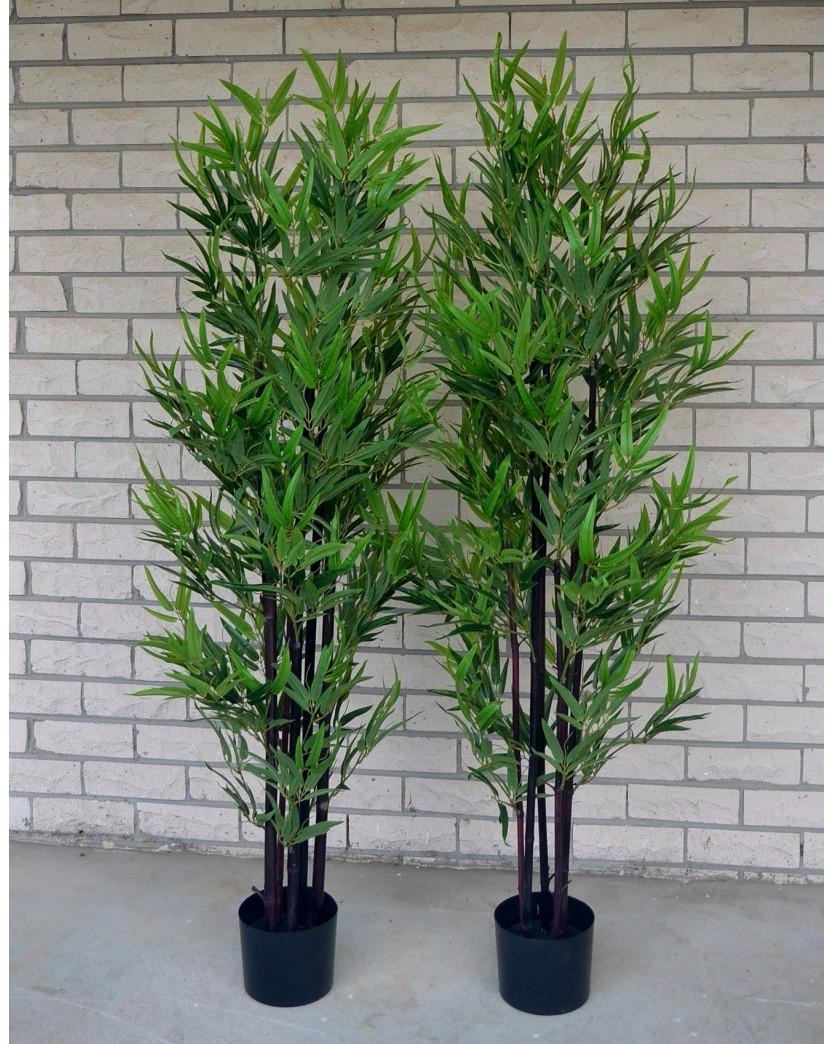 Artificial trees artificial trees plants artificial flowers 1x 5ft artificial green leaf black bamboo tree 150cm mightylinksfo