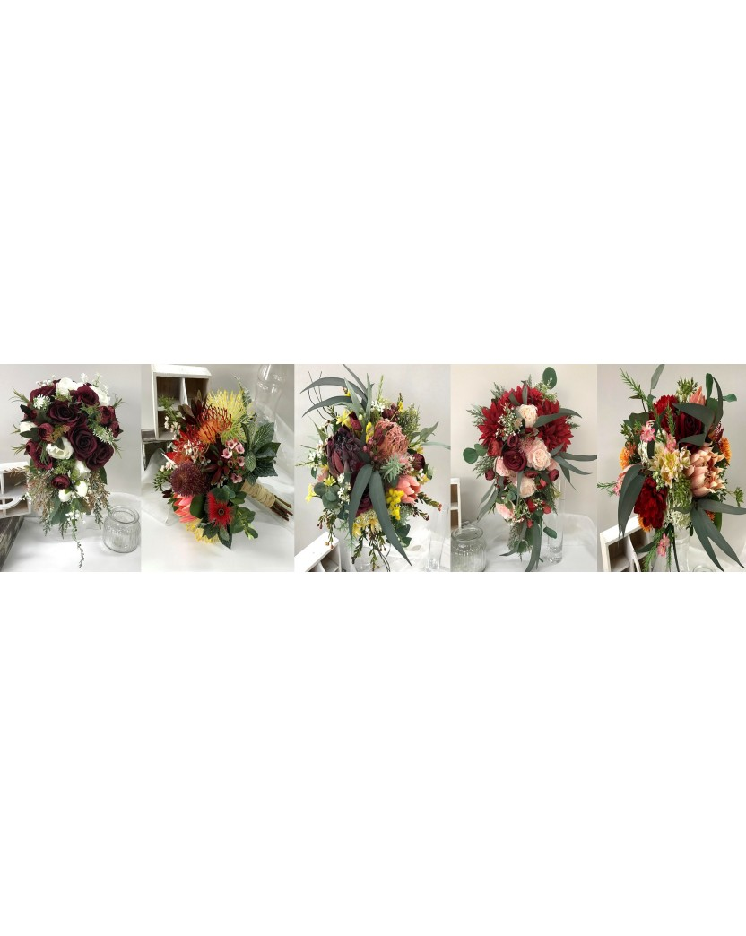 Bouquet Collage Artificial Trees Plants Artificial Flowers