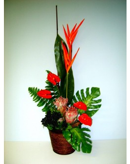 Latex & Silk Artificial Floral Flower Arrangement