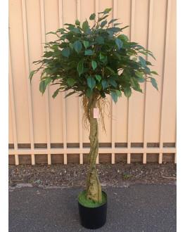 120cm high Artificial Green Ficus Tree