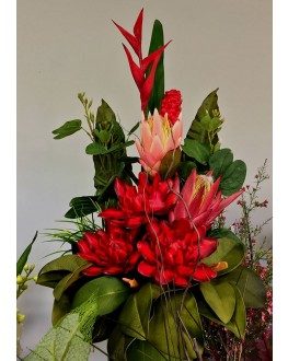 Latex & Silk Artificial Floral Arrangement