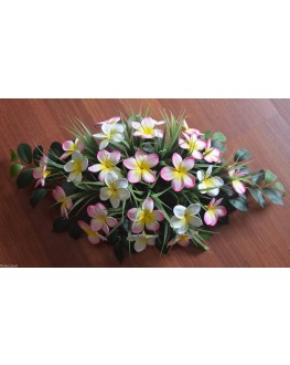 Table Arrangement Centrepiece Latex Frangipani White Yellow Pink