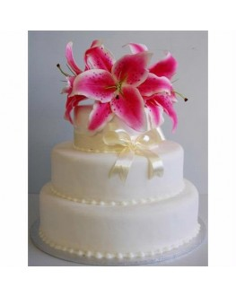 CAKE TOPPER LATEX PINK ORIENTAL LILY