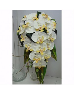 Teardrop Wedding Bouquet Latex Orchids