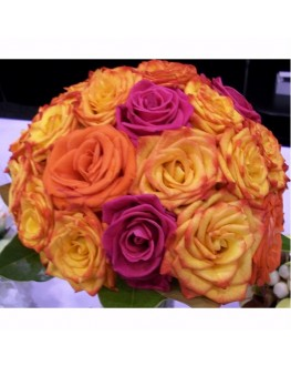 fresh rose posy large bouquet summer mix colors