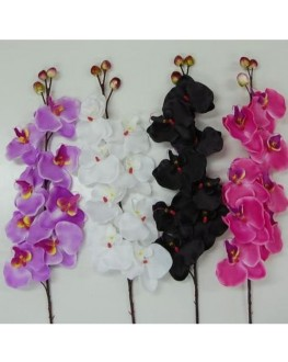 Silk Phalaenopsis Orchid Pink White Purple Black