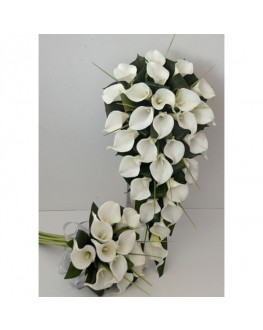 Latex white calla lily wedding package