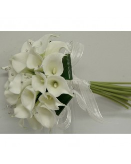 Latex white calla lily bridal package