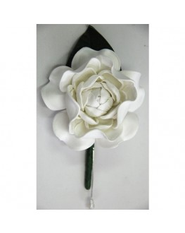 Latex white gardenia button hole