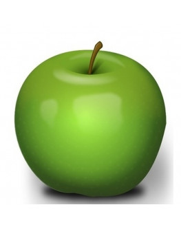 Artificial fruit life size green granny smith apple