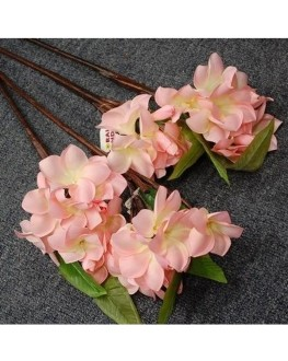 Silk Baby Light Pink Frangipani Stem