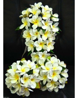 Latex Frangipani White Yellow Wedding Set