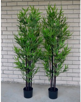 1x 5FT Artificial Green Leaf Black Bamboo Tree 150cm