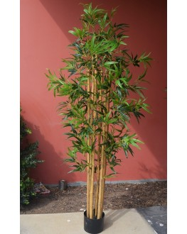 1x 6FT Artificial Green Leaf Natural Bamboo Tree 180cm high