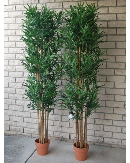 1x 6FT Artificial Green Bamboo Tree