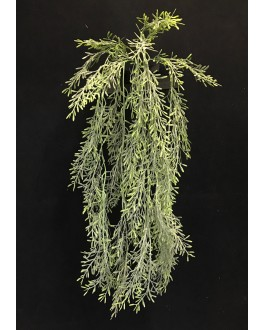 Artificial Silk Green Grey Sage Hanging Plant