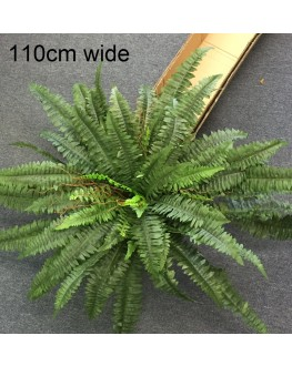Artificial Large Green Boston Fern Plant 110cm wide