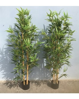4.5ft Artificial Ntaural Bamboo Tree with Latex coated Leaf
