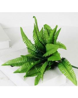 Artificial Silk Green Mini Boston fern