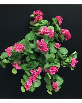 Artificial Silk Pink Geranium Hanging Plant 70cm