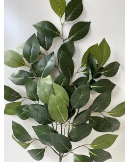 Silk Green Camellia Leaf Greenery Stem