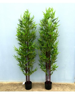 1x 6FT Artificial Green Leaf Black Bamboo Tree 180cm high