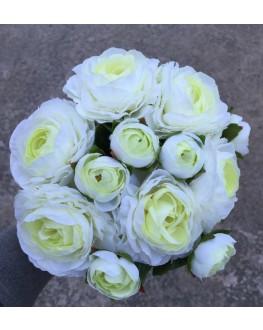 Ranunculus Cream Green Premade Bouquet Bunch