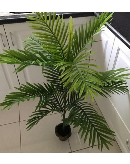 1x Artificial Green Areca Palm Tree 3ft 90cm high