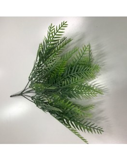 Artificial Green Greenery Fern Mini Bush Leaf 25cm