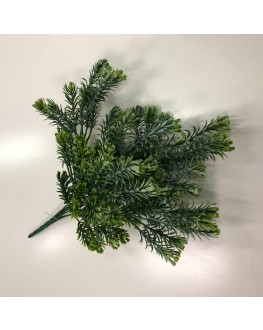 Artificial Grey Green Greenery Mini Bush Leaf 25cm