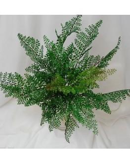 Artificial Green Maiden Hair Fern Bush Spreads 50cm wide