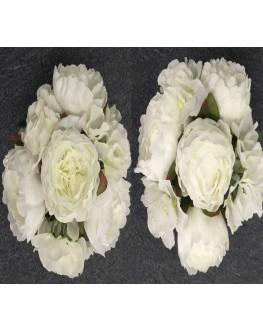 Silk White Peony Bud Hydrangea or Mix Silk White Peony Hydrangea bouquet Mix