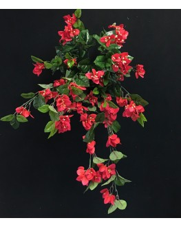 Artificial Silk Red Bougainvillea Hanging Plant
