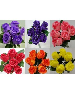 Latex Real Touch Rose Posy Bouquet 6 heads