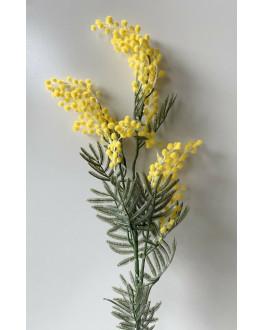 Artificial Fake Silk Flower Australian Native Golden Yellow Wattle Mimosa Flowers Stem