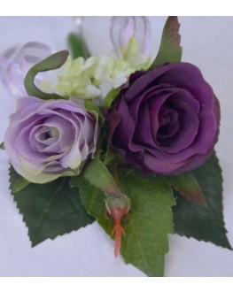 Silk Purple Lavender Rose Pin Corsage