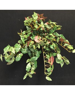Artificial Red Begonia Hanging Plant