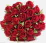 Silk Rose Roses Posy Bouquet 26 Heads Orange Pink Red